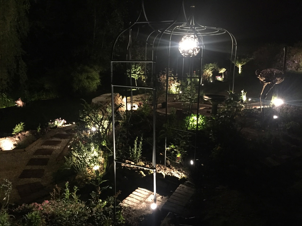 Outdoor lighting projects english electrical company